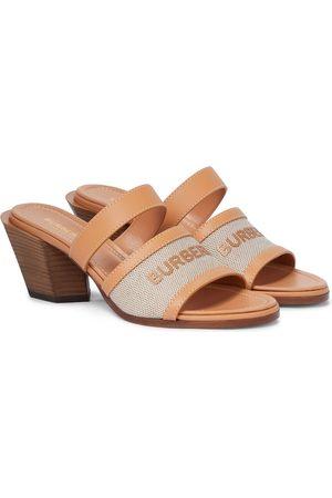 Burberry Damen Sandalen - Sandalen aus Leder und Canvas