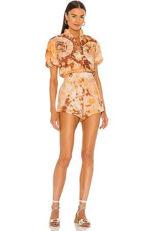 SWF Damen Jumpsuits - Puff Sleeve Romper in . Size XS, S, M.