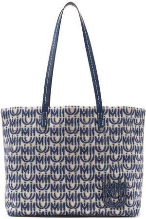 Miu Miu Damen Shopper - Logo-jacquard Cotton-blend Canvas Tote Bag