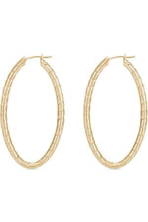 John Hardy Damen Ohrringe - 18kt Gelbgold-Hängeohrringe mit Diamanten