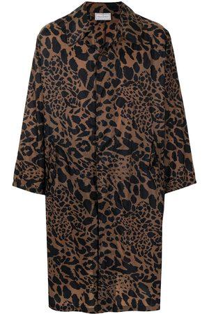 PIERRE-LOUIS MASCIA Trenchcoat mit Leoparden-Print
