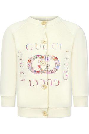 Gucci Cardigan mit geblümtem Logo