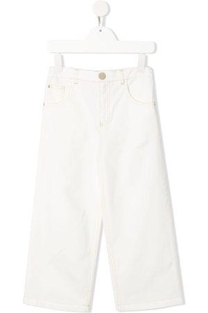 Elisabetta Franchi La Mia Bambina Straight - High-Rise-Jeans mit geradem Bein
