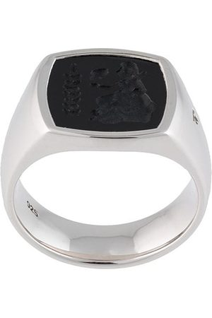 TOM WOOD Athena Sterlingsilberring mit Onyx
