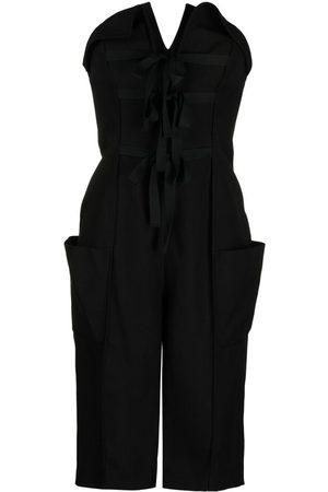 Serafini Damen Jumpsuits - Schulterfreier Playsuit mit Schleife