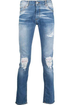 Family First Ausgeblichene Distressed-Jeans