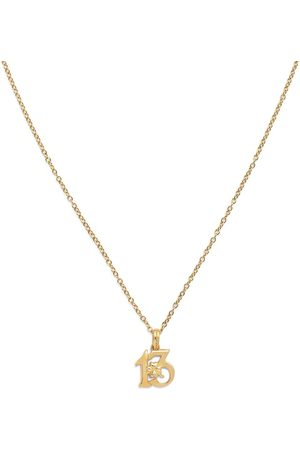 Dolce & Gabbana 18kt Good Luck Gelbgoldhalskette mit 13-Anhänger