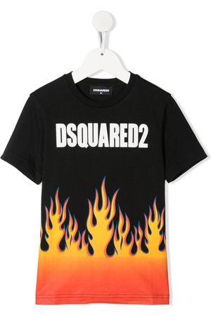 Dsquared2 T-Shirt mit Flammen-Print