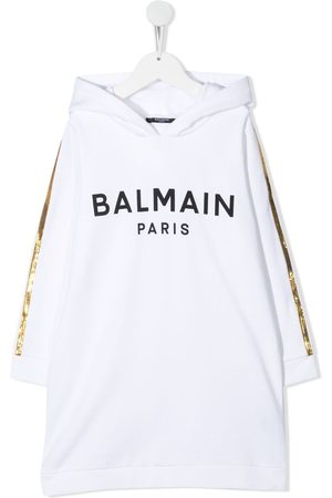 Balmain Kleid mit Logo-Print
