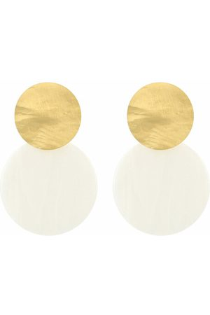 LOTT. gioielli Ohrringe Earring Resin Closed Circle Medium weiß