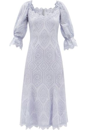 Luisa Beccaria Broderie-anglaise Cotton-poplin Dress