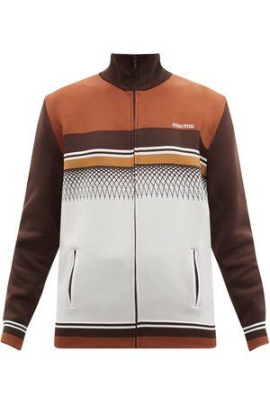 Miu Miu Striped Jersey Track Jacket