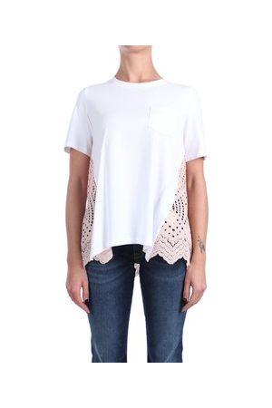 ROSE' A POIS T-Shirt ALLODOLA Kurzarm Damen