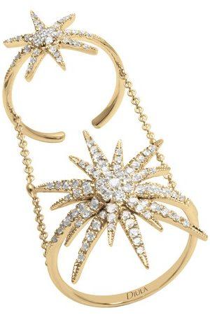 DJULA Damen Ringe - Ring - Doppelsonne mit Diamanten