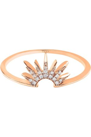 DJULA Damen Ringe - Ring - Sonnenaufgang mit Diamanten