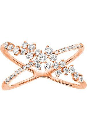 Djula Damen Ringe - Gekreuzter Ring - Fairytale mit Diamanten