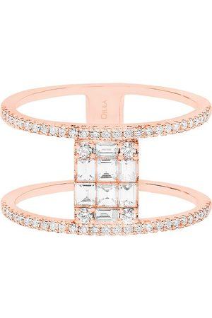 DJULA Damen Ringe - Ring - funkelnd und quadratisch mit Diamanten