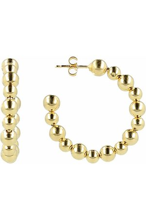 LOTT. gioielli Ohrringe Classic Creole Ball Irregular Small gold