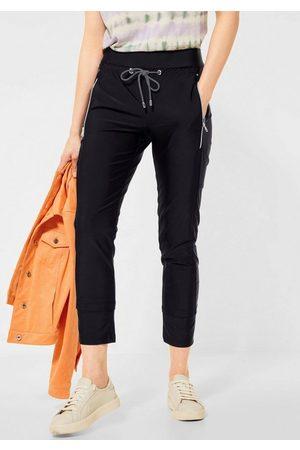 Street one Damen Jogginghosen - Jogger Pants »Bonny« mit kontrastfarbenem Bindeband