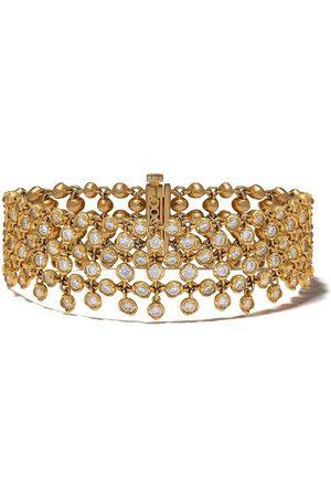 ANNOUSHKA 18kt 'Net' Gelbgoldarmband mit Diamanten