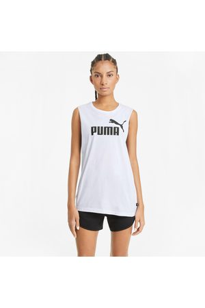 PUMA Herren T-Shirts, Polos & Longsleeves - Essentials Logo Damen Tank-Top mit Cut-outs Für Herren
