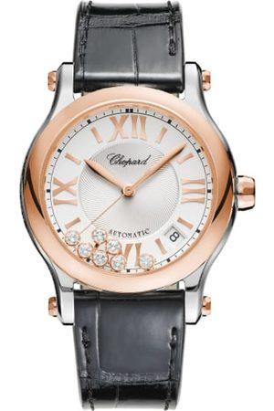 Chopard Damen Sport BHs - Uhr Happy Sport Uhr Mit 36 Mm Gehäuse, Automatik, 18 Karat Roségold, Edelstahl Und Diamanten rosa