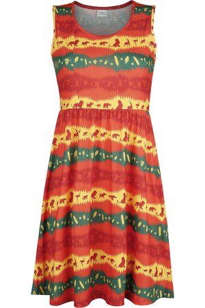 Der König der Löwen Damen Midikleider - Wild Mittellanges Kleid multicolor