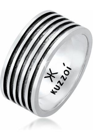 Kuzzoi Silberring »Herren Bandring Massiv Rillen 925 «