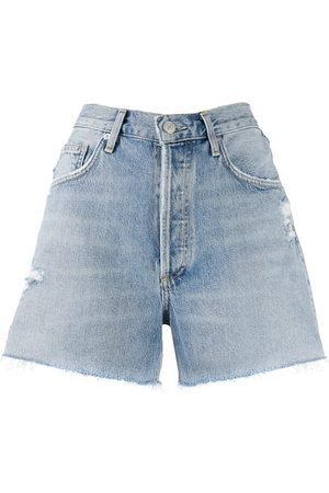 AGOLDE Damen Cropped - Jeans-Shorts im Distressed-Look