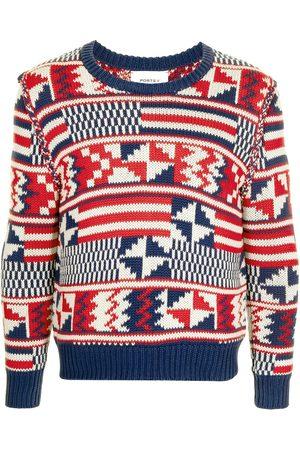Ports V Strickpullover - Pullover mit geometrischem Print