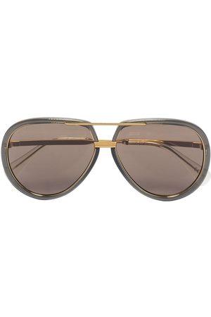 Gucci Herren Sonnenbrillen - Pilotenbrille mit Logo-Gravur