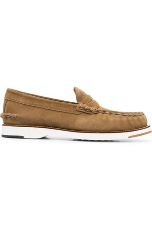 Tod's Contrasting sole penny loafers