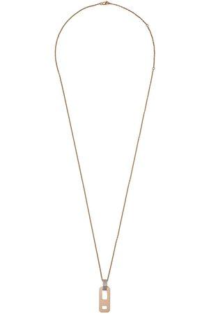 AS29 Damen Halsketten - 18kt Weiß- und Rotgoldhalskette mit Diamanten