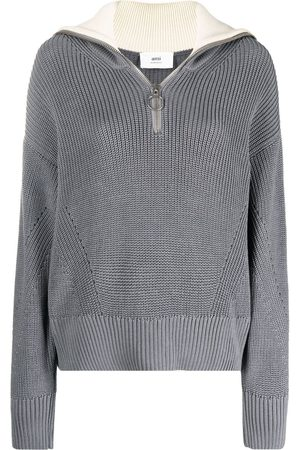 AMI Paris Zip-up knitted jumper