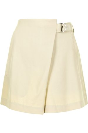 GOODIOUS Damen Shorts - Asymmetric belted shorts