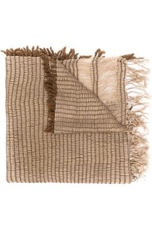 Issey Miyake Schals - 2000s gewebter Schal mit Fransen