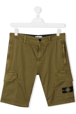 Stone Island TEEN Cargo-Shorts mit Logo