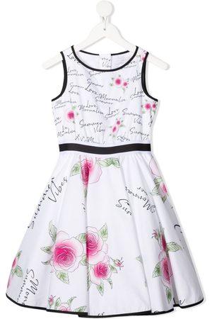 """Monnalisa Mädchen Bedruckte Kleider - Kleid mit """"Summer Vibes""""-Print"""