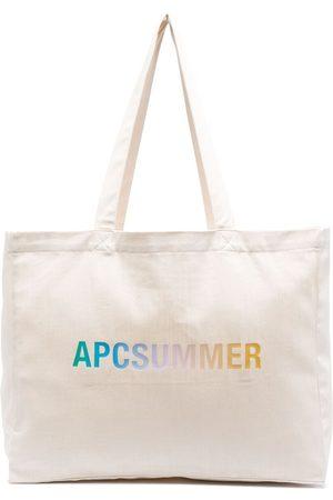A.P.C. Shopper mit Logo-Print