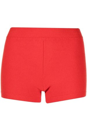 AMI AMALIA Ribbed-knit merino wool shorts