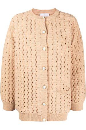 AMI AMALIA Open-knit merino wool cardigan