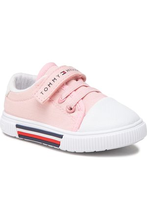 Tommy Hilfiger Low Cut Lace-Up/Velcro Sneaker T1A4-31007-0890 Pink 302