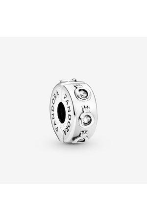 PANDORA Damen Armbänder - Funkelndes Crown O Clip-Charm