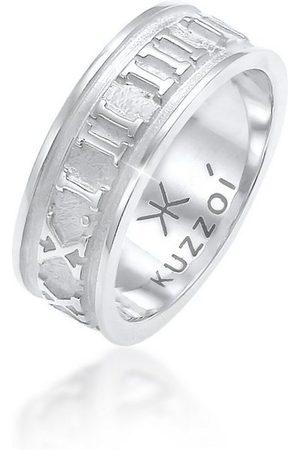 Kuzzoi Silberring »Herren Bandring Römische Zahlen 925 «