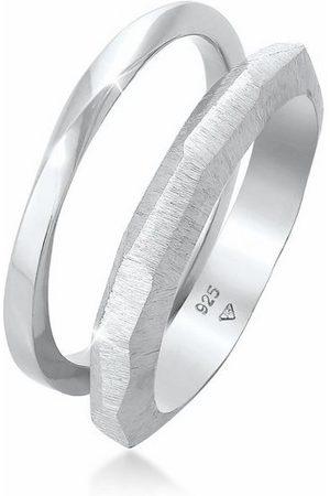 Elli Ring-Set »Bandring Basic Gedreht Struktur (2 tlg) 925 «