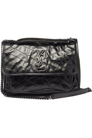 Saint Laurent Niki Medium Ysl-plaque Leather Shoulder Bag