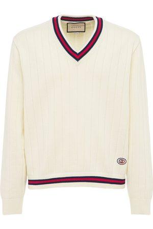 Gucci Herren Strickpullover - Pullover Aus Baumwollstrick