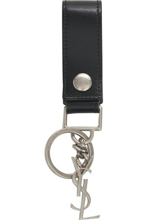 Saint Laurent Schlüsselanhänger Aus Leder Mit Monogramm