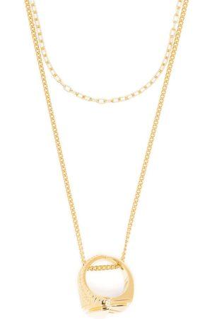 AMBUSH Herren Halsketten - Misfit Halskette mit Ring