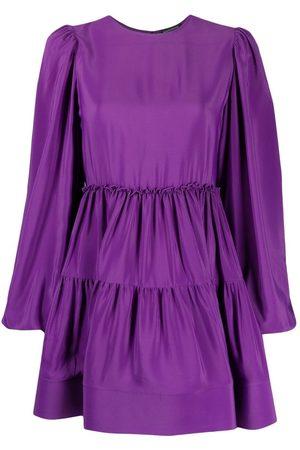 WANDERING Flared mini crepe dress
